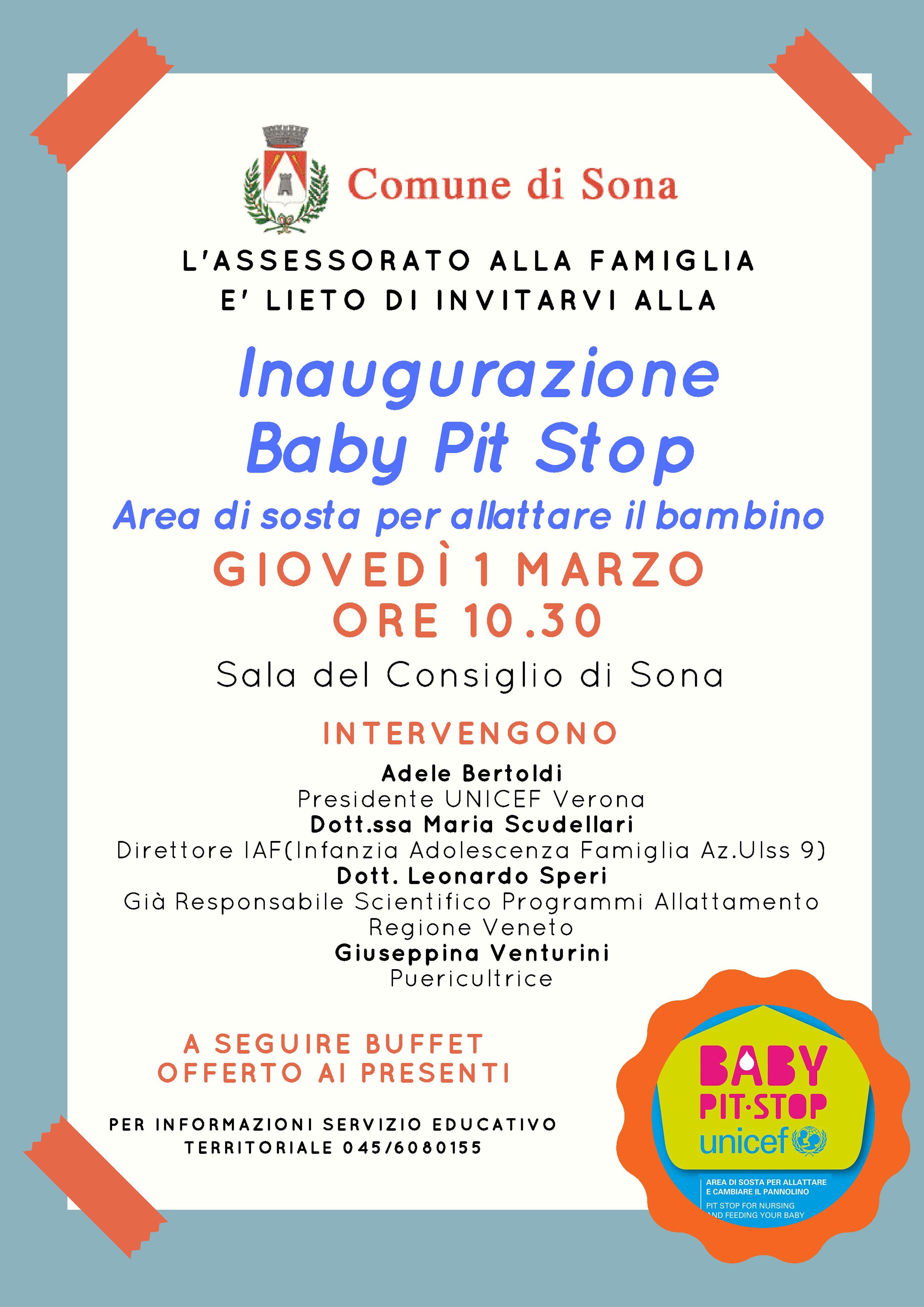 Un nuovo Baby Pit Stop a Sona in provincia di Verona