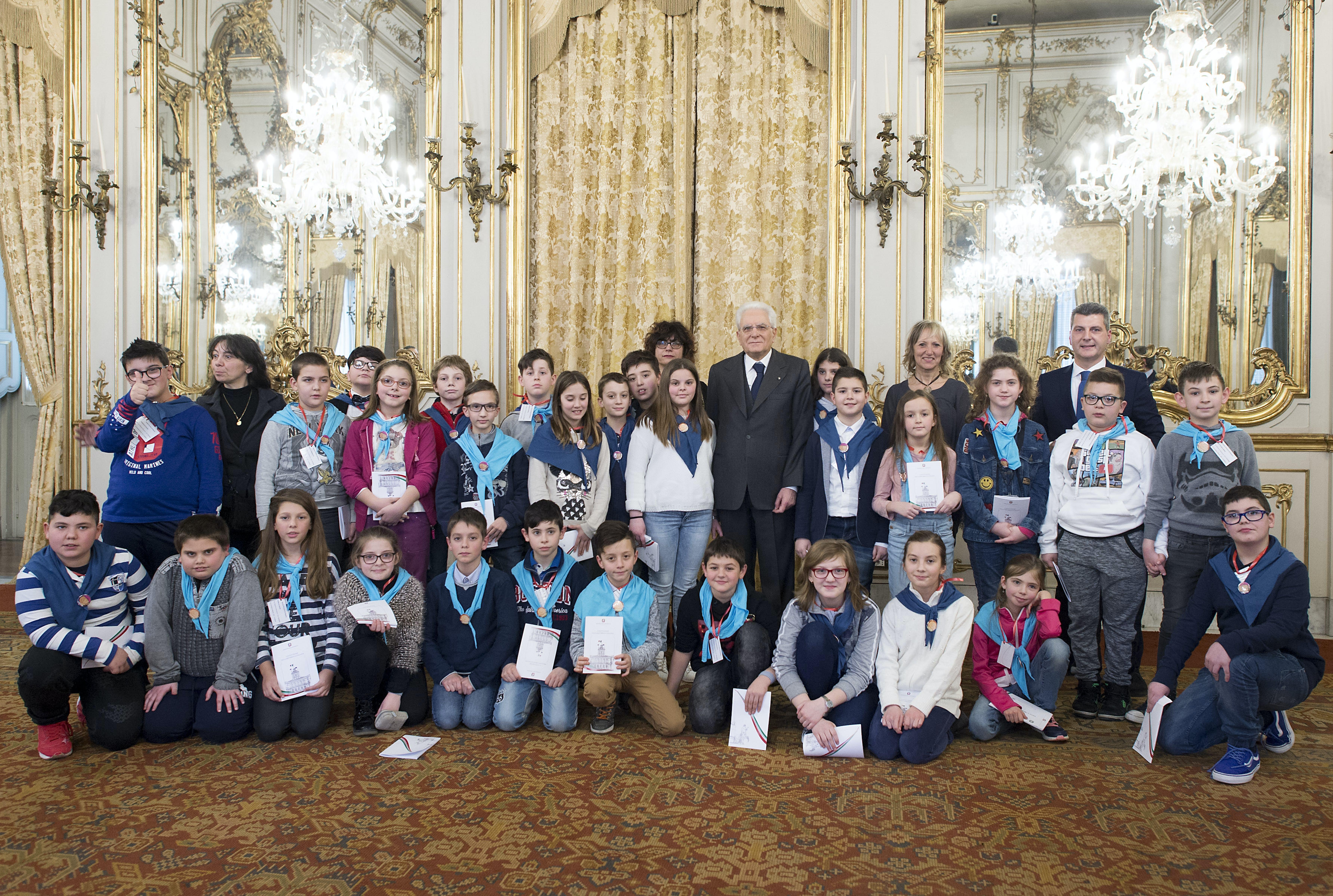Foto di gruppo con il Presidente Mattarella