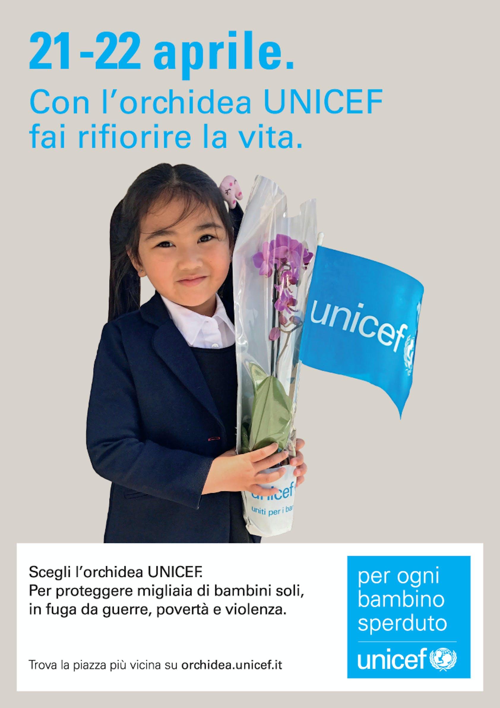Anche per Trento le Orchidee UNICEF per ogni bambino speduto