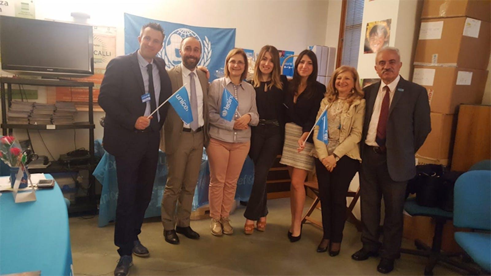 Anna Miccoli con i rappresentanti di UBI Banca