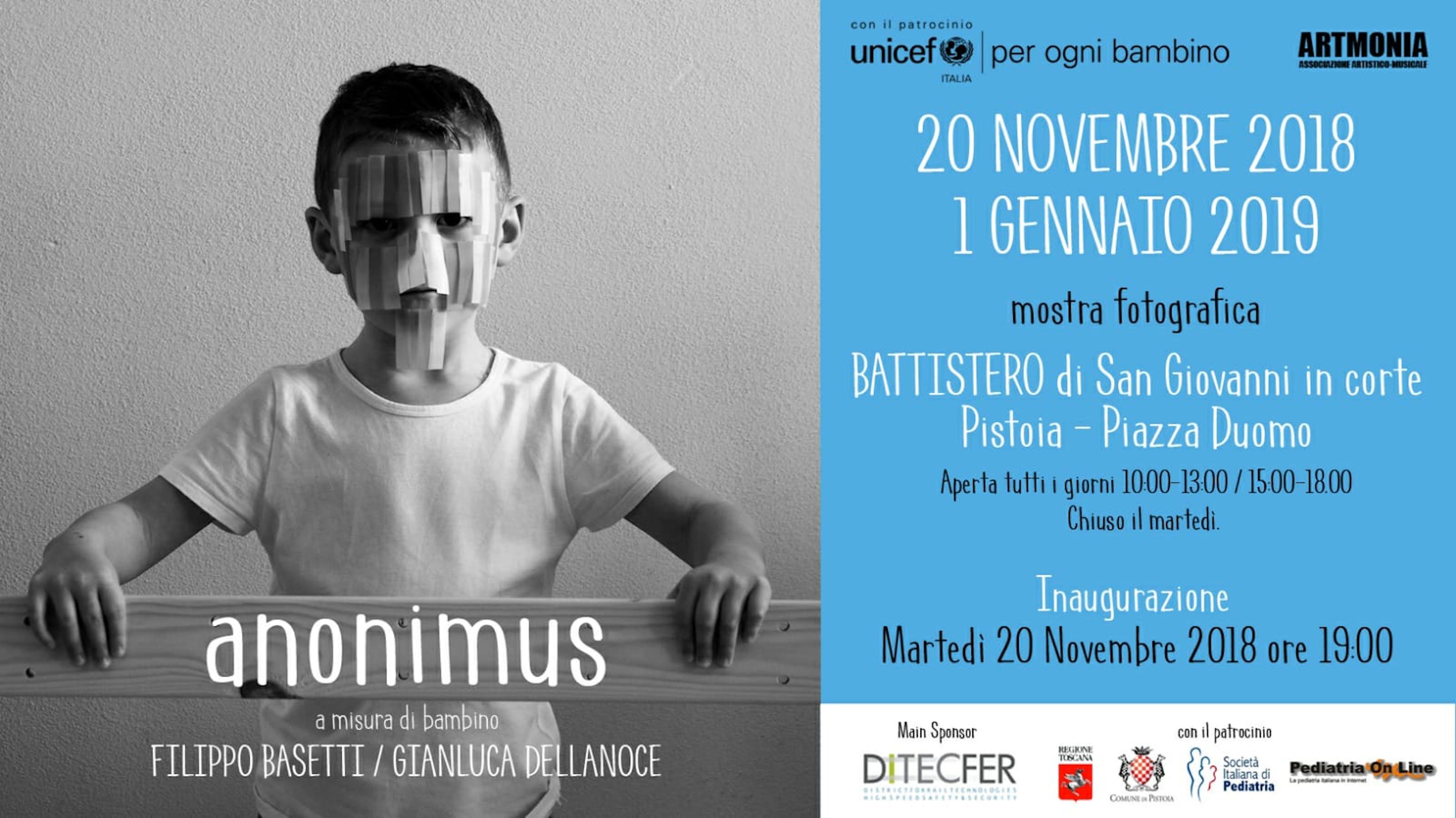 """A Pistoia """"Anonimus"""" una mostra fotografica per i diritti dell'infanzia"""
