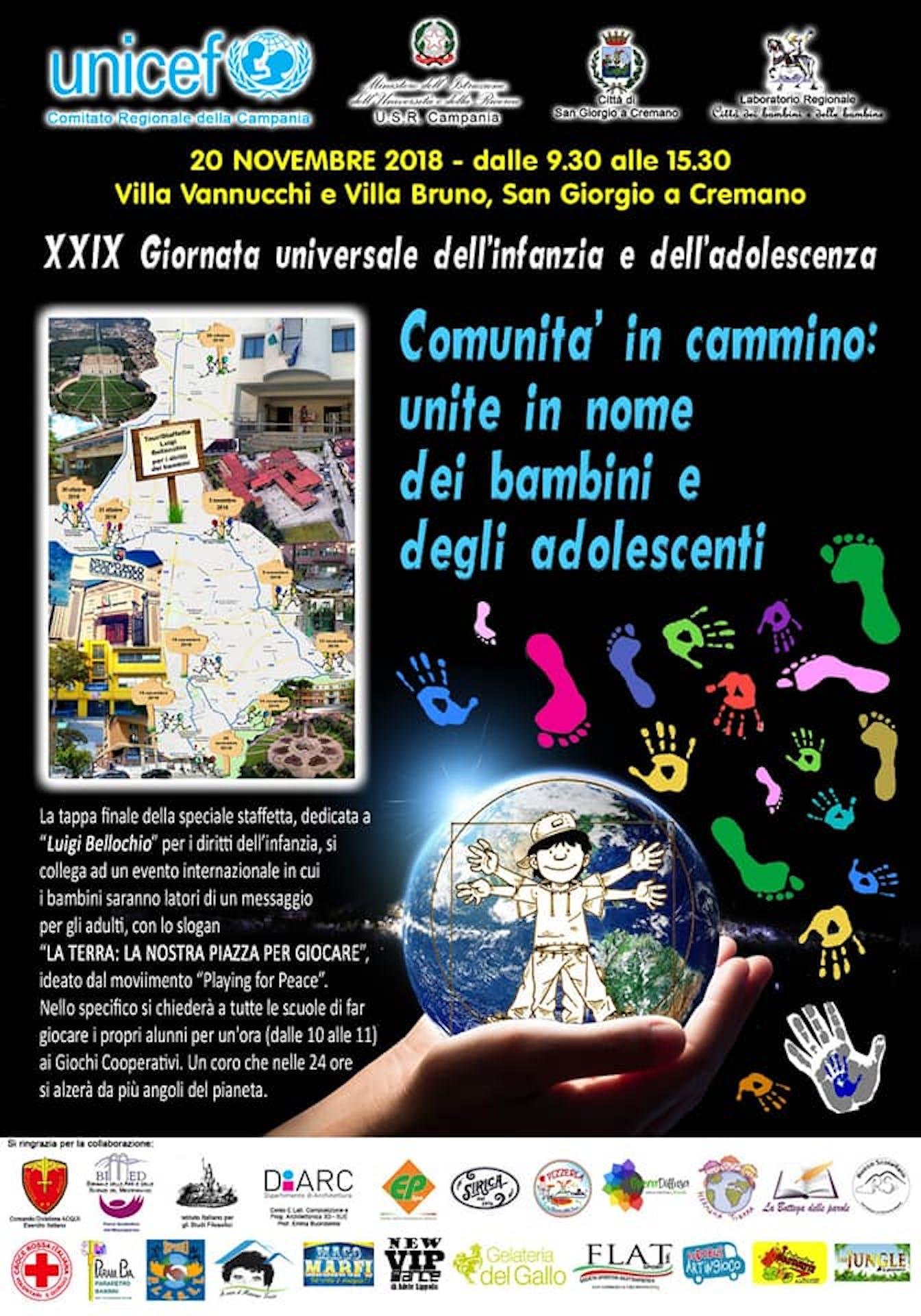 Per la giornata mondiale dell'infanzia, in provincia di Napoli