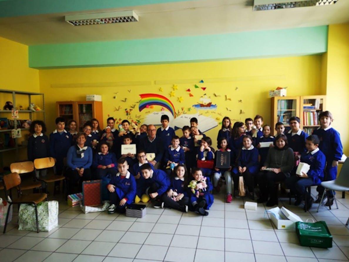 Le terze dell'Albini con le insegnanti Mimma Rizzo, Maristella D'Andrea e Mario Coviello
