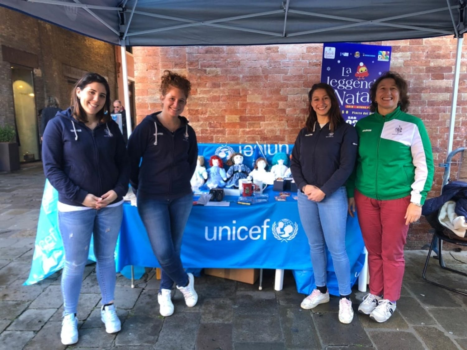 Volontarie UNICEF e Red Panthers a Treviso