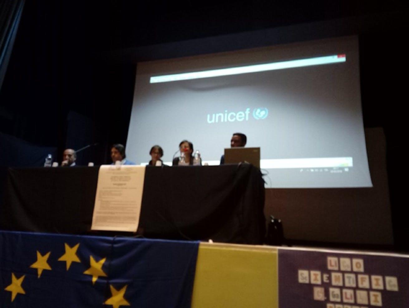 La proiezione a Potenza al Liceo Scientifico Galilei durante il convegno del CESP