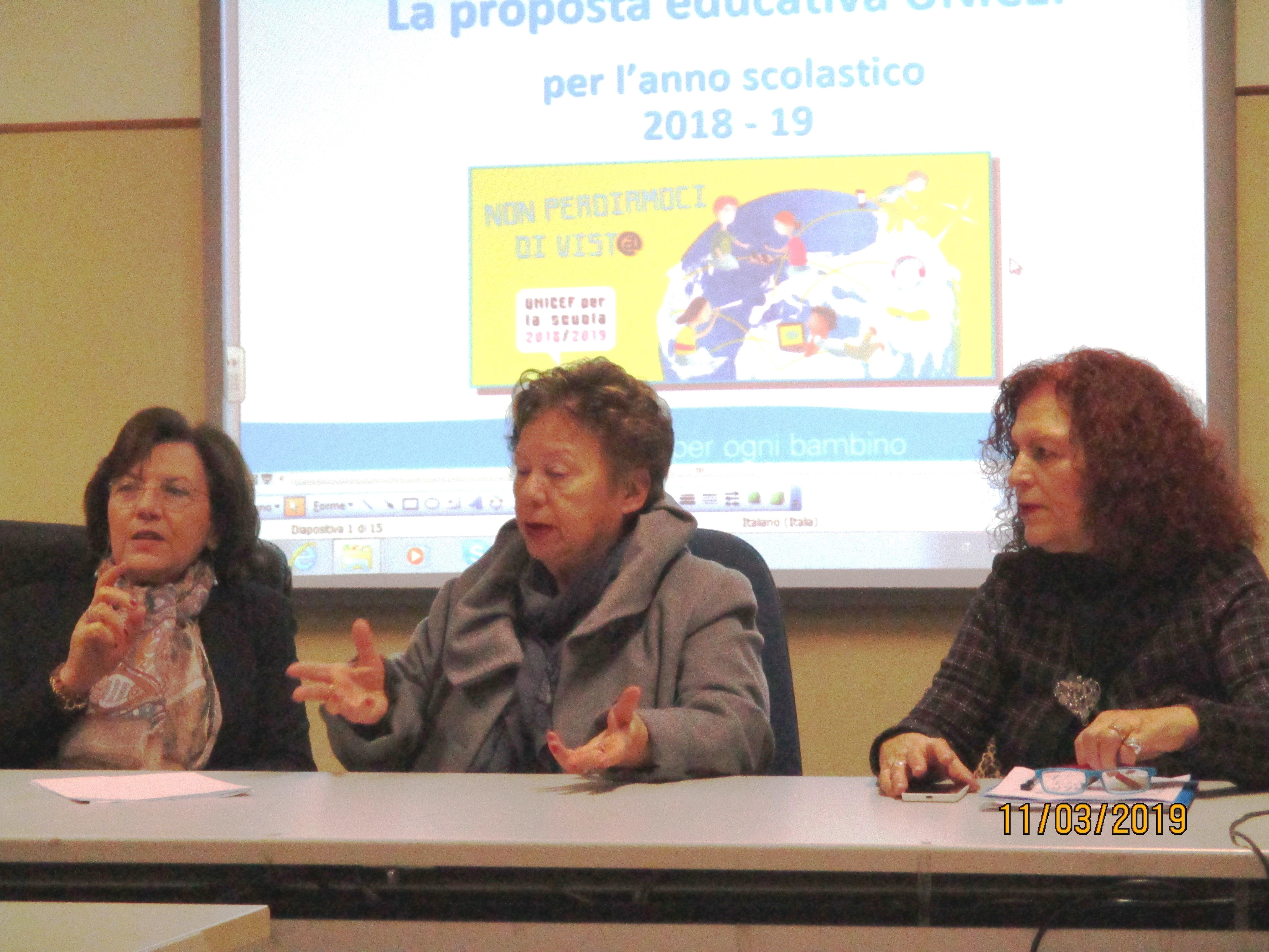 Corradina Liotta, Carmela Pace e Angelica Romano durante la Verifica Formativa