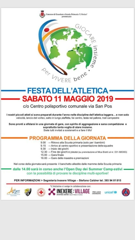 5^ Festa dell'Atletica 2019 a Grandate