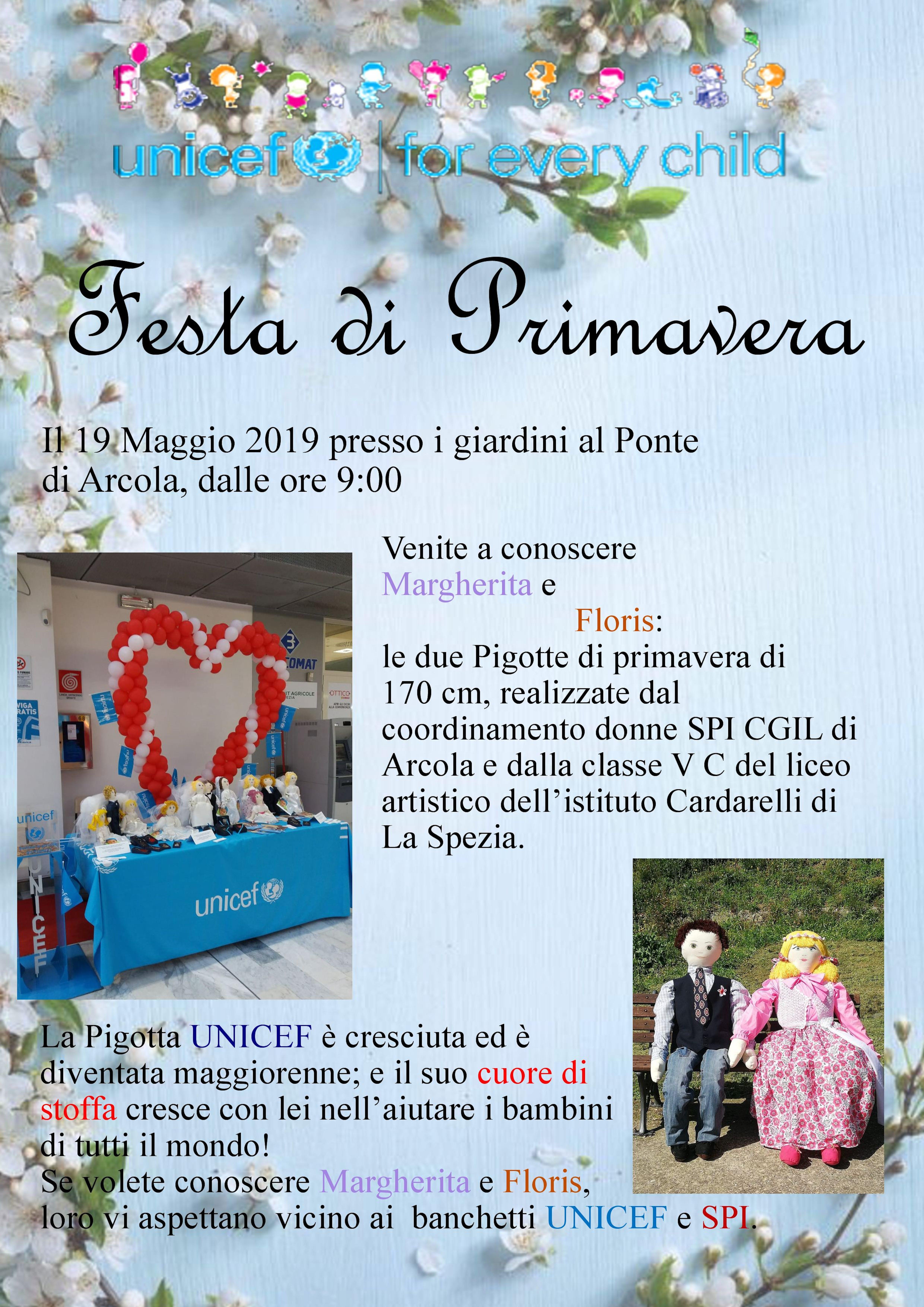 Ad Arcola la Festa della Primavera è con le Pigotte UNICEF