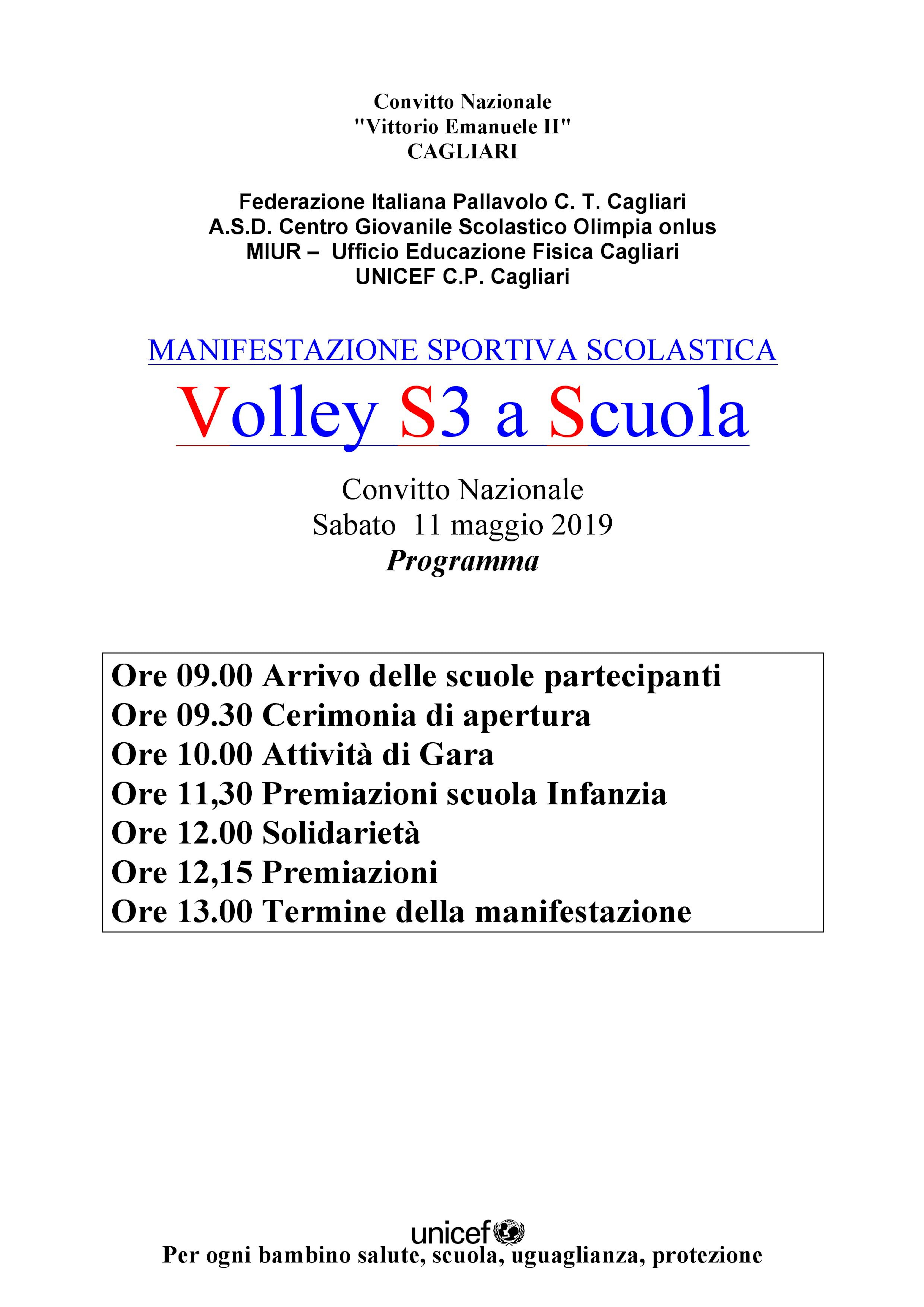 La 20° edizione del Volley S3 a Scuola 2019 a favore del progetto #tuttiascuola
