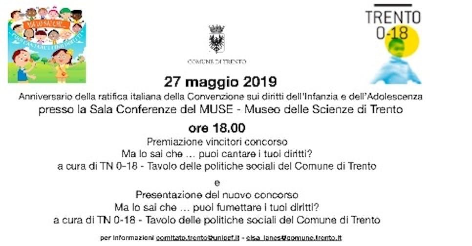 Ma lo sai che..puoi cantare i tuoi diritti? ... Giornata conclusiva del concorso al Museo della Scienza - MUSE di Trento
