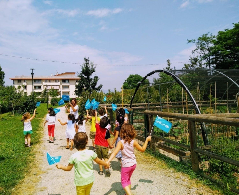 I bambini all'orto UNICEF