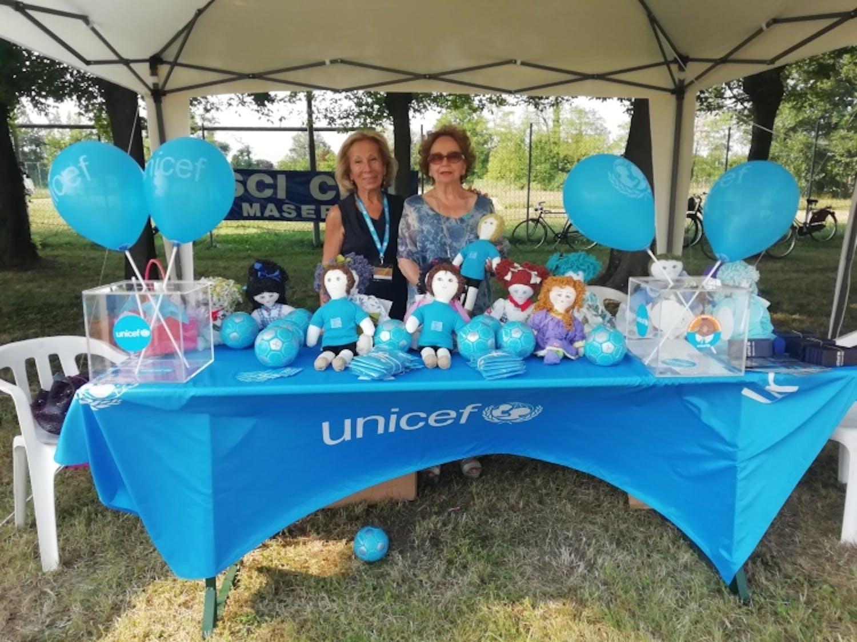 Volontarie UNICEF al REtorneo