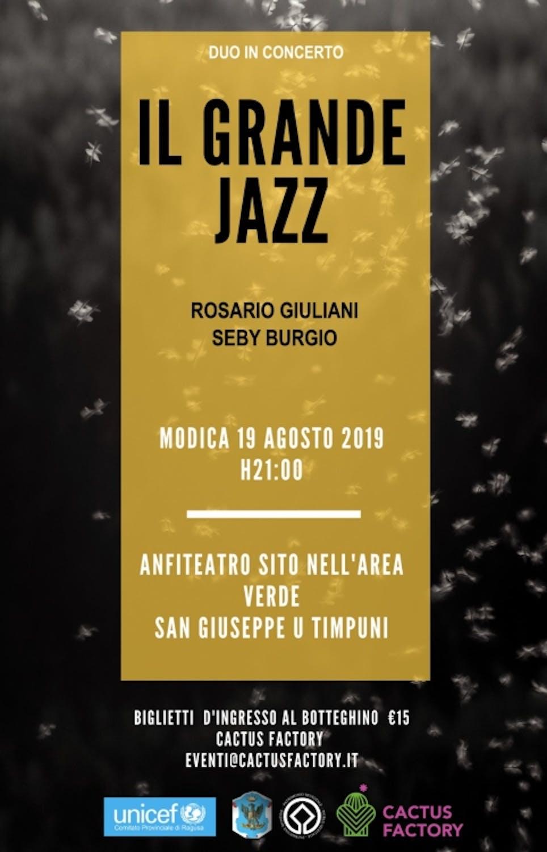 Serata con il grande Jazz a Modica per l'UNICEF