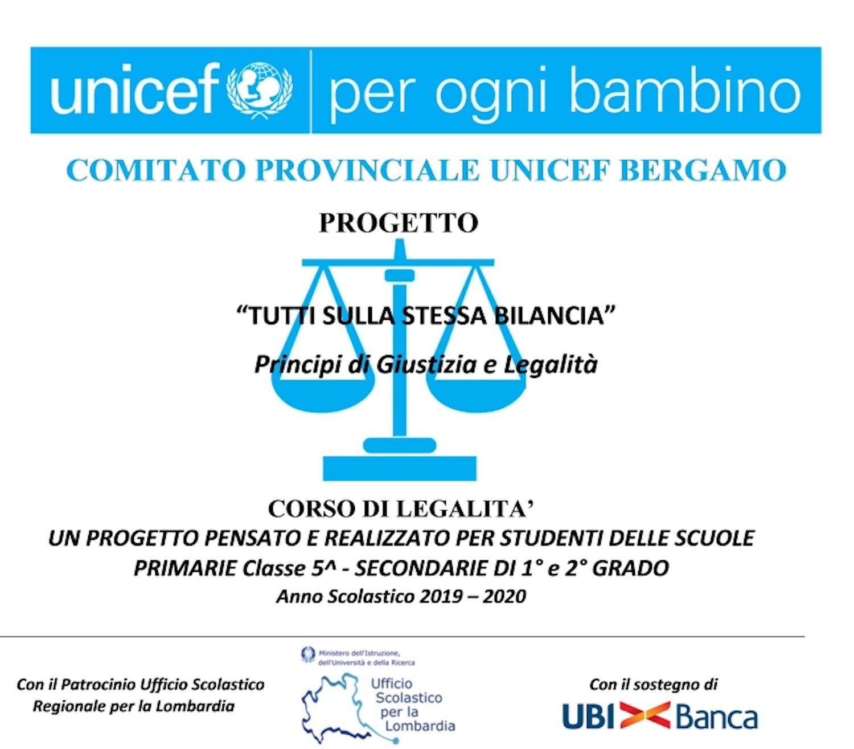 """Bergamo, corso di legalità """"Tutti sulla stessa bilancia - Principi di Giustizia e Legalità"""""""