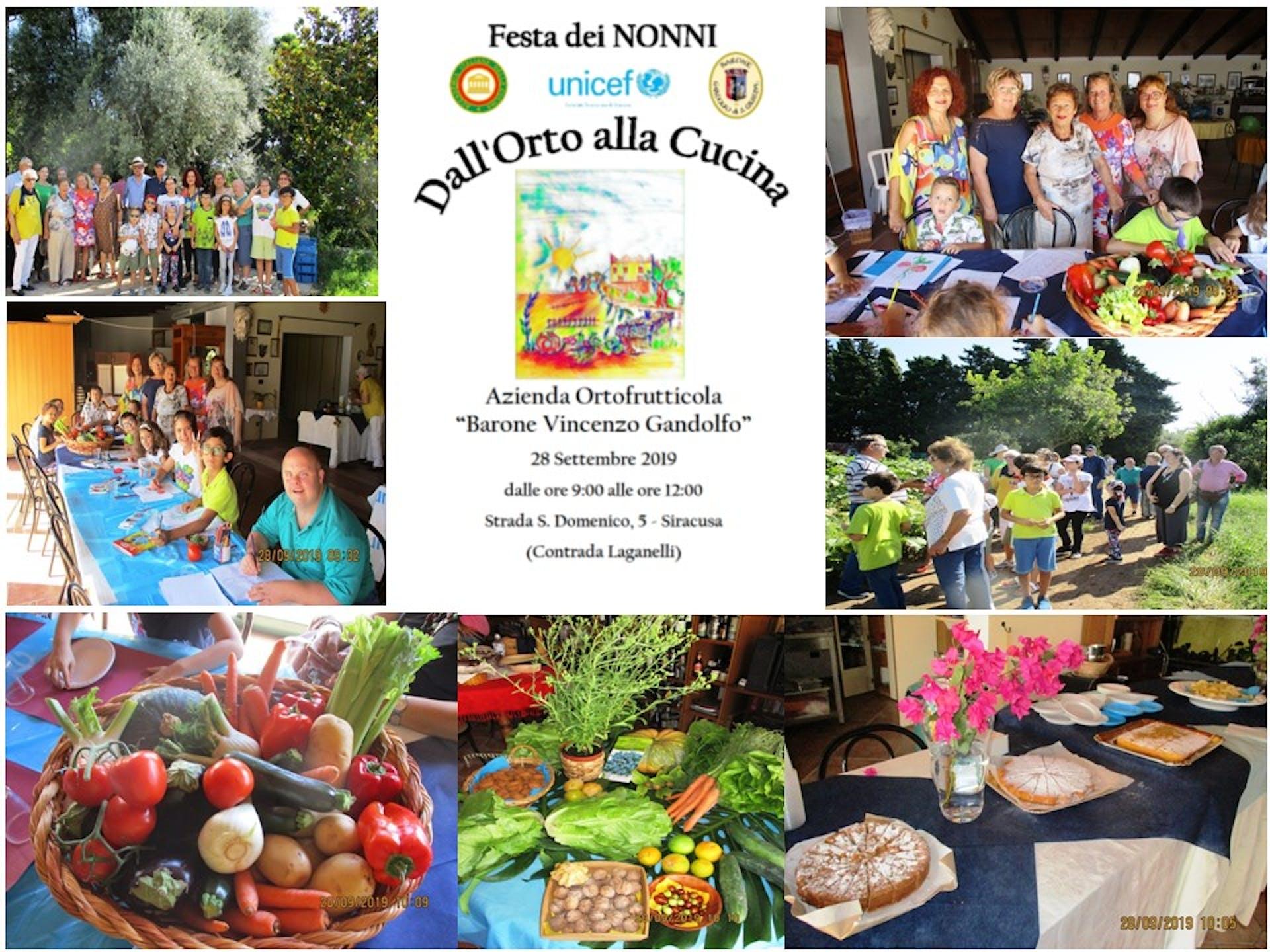A Siracusa la Festa UNICEF dei Nonni e Bambini 2019 si è svolta con l'Accademia Italiana della Cucina