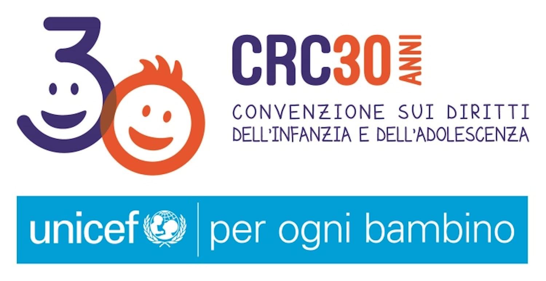 Logo 30 anni Convenzione Diritti Infanzia e Adolescenza