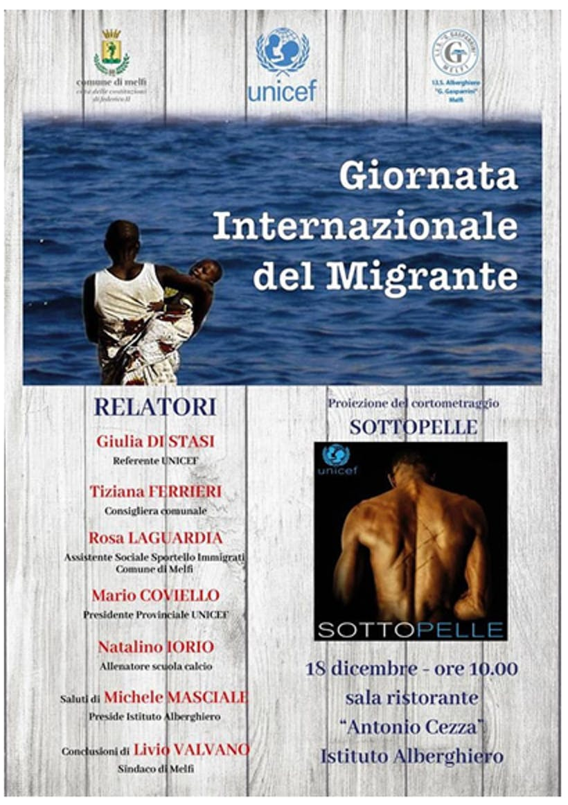Locandina della Giornata del Migrante