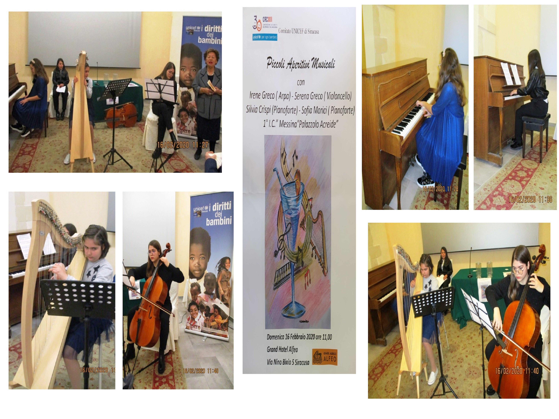 """Si è svolto a Siracusa il 2° incontro dei """"Piccoli aperitivi musicali per l'UNICEF"""""""