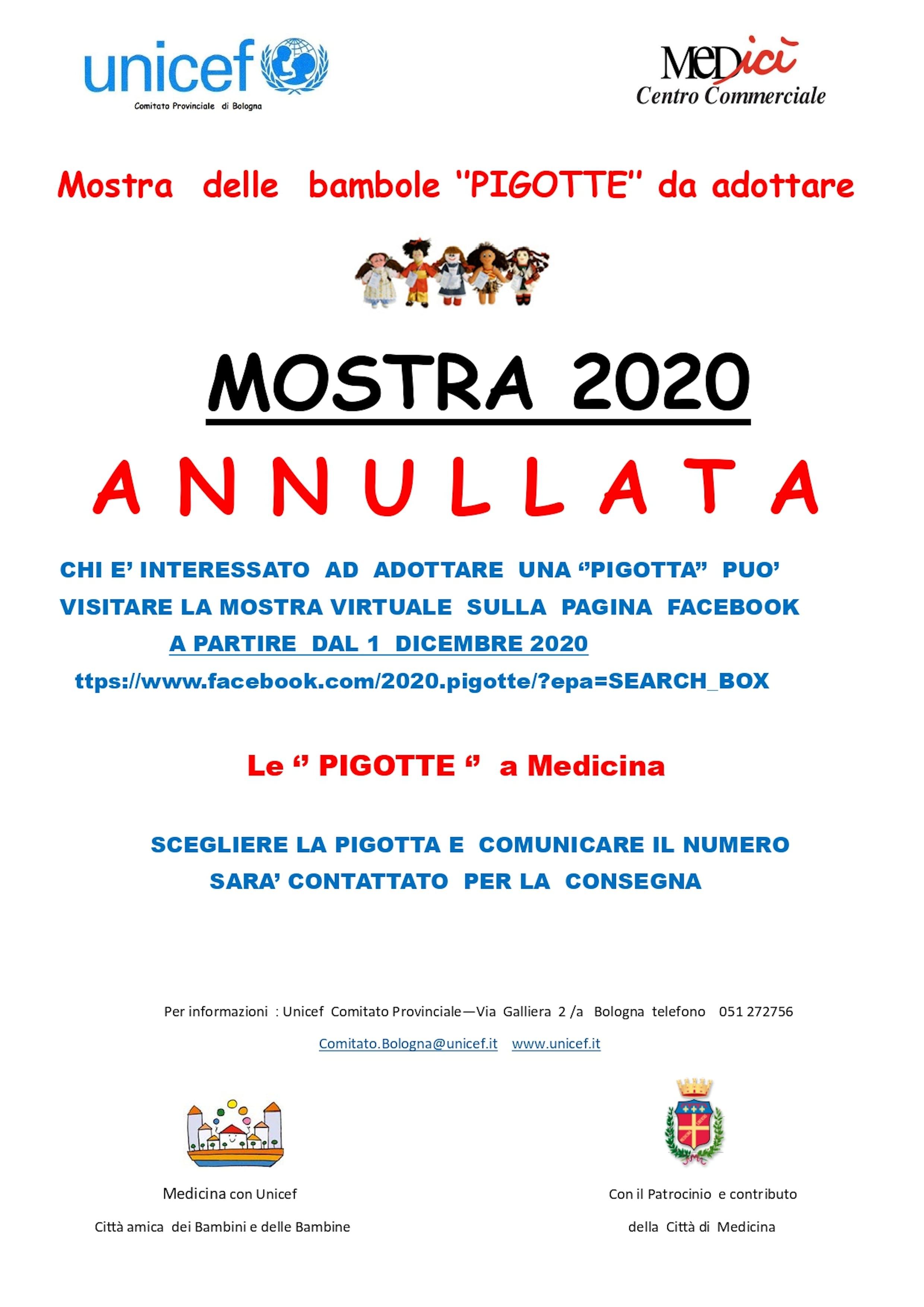 L'adozione delle Pigotte a Medicina prosegue sulla pagina Facebook del comitato di Bologna