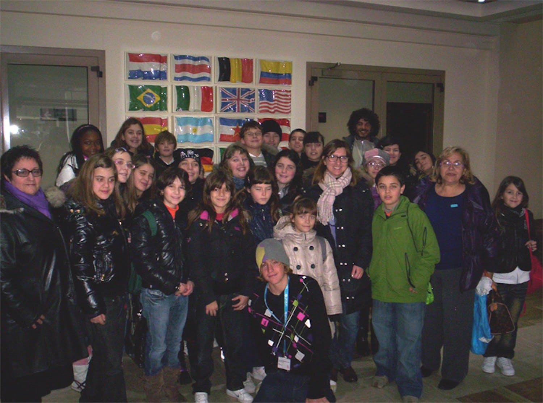 I ragazzi di Civitavecchia a Saxa Rubra con l'UNICEF