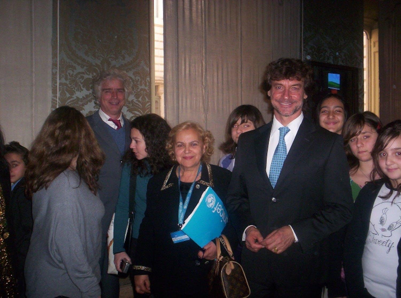 Gli studenti del Litorale Roma Nord alla presentazione del Rapporto UNICEF 2012
