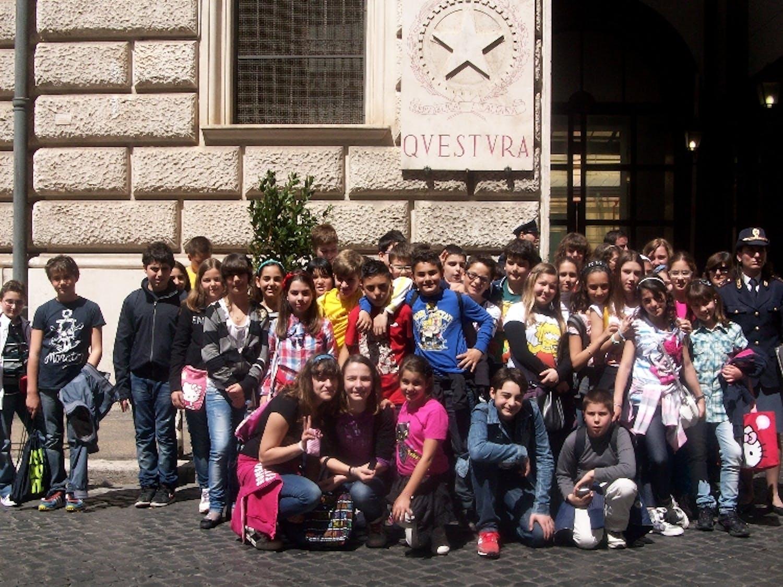 Gli studenti di Civitavecchia in visita presso la Sala Operativa della Questura di Roma