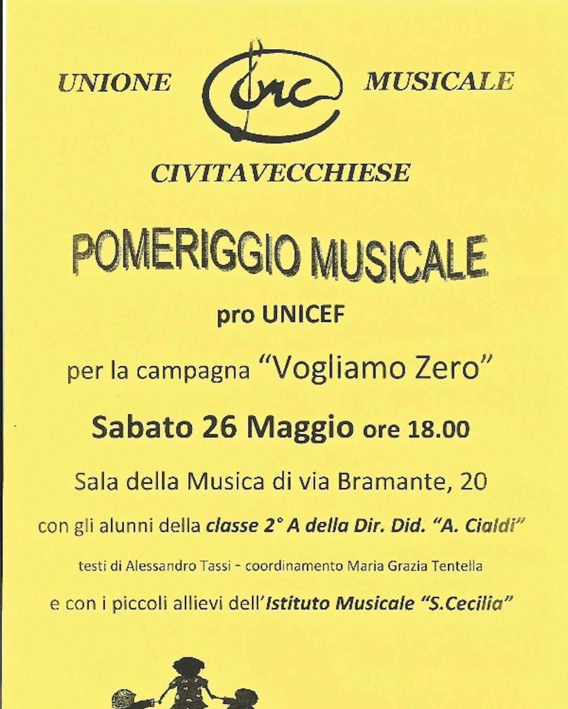 Un pomeriggio musicale a Civitavecchia contro la mortalità infantile