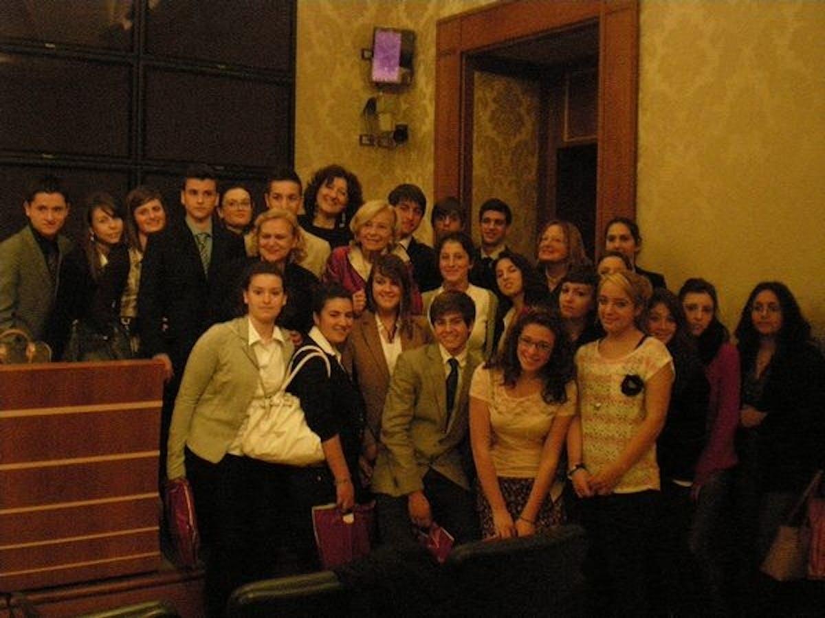 La Vice Presidente del Senato Emma Bonino incontra gli studenti di Civitavecchia e Santa Marinella