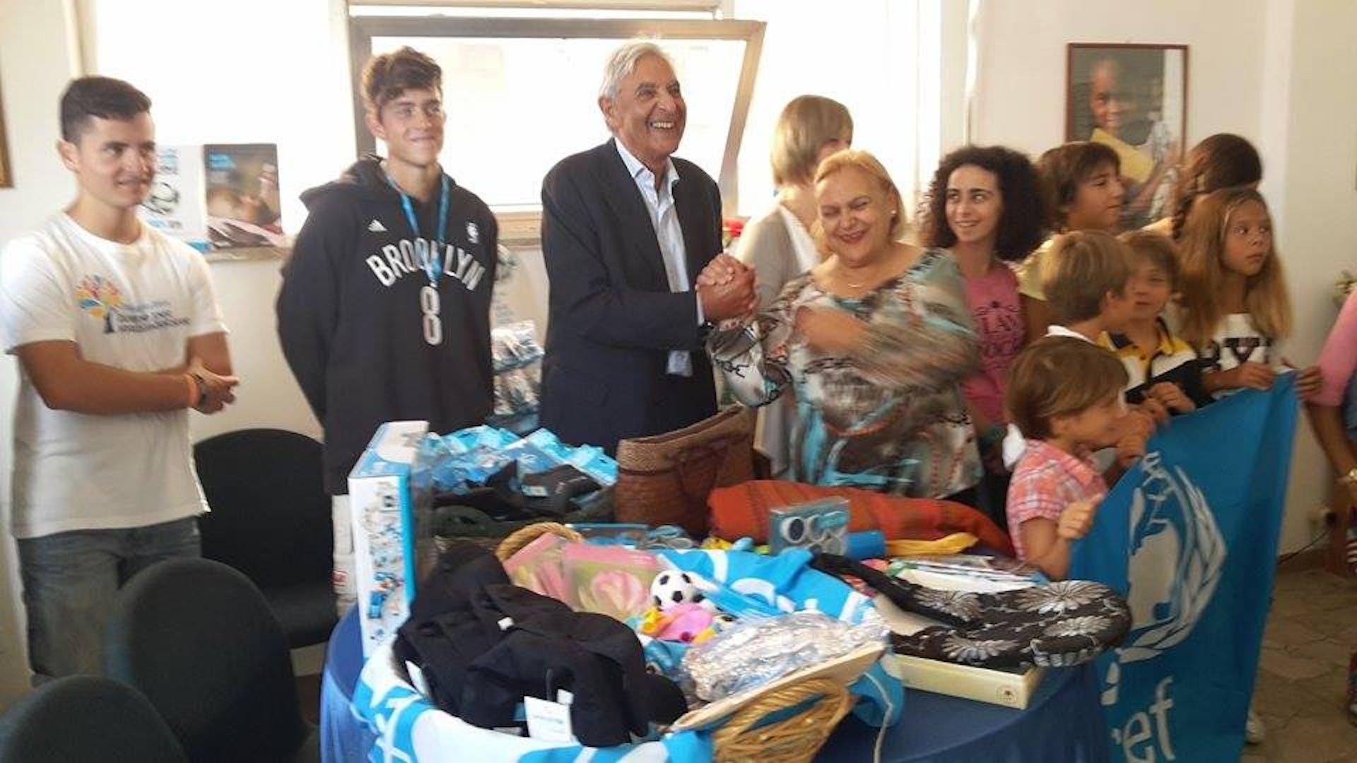 Civitavecchia: i Testimonial inaugurano il Mercatino della Solidarietà