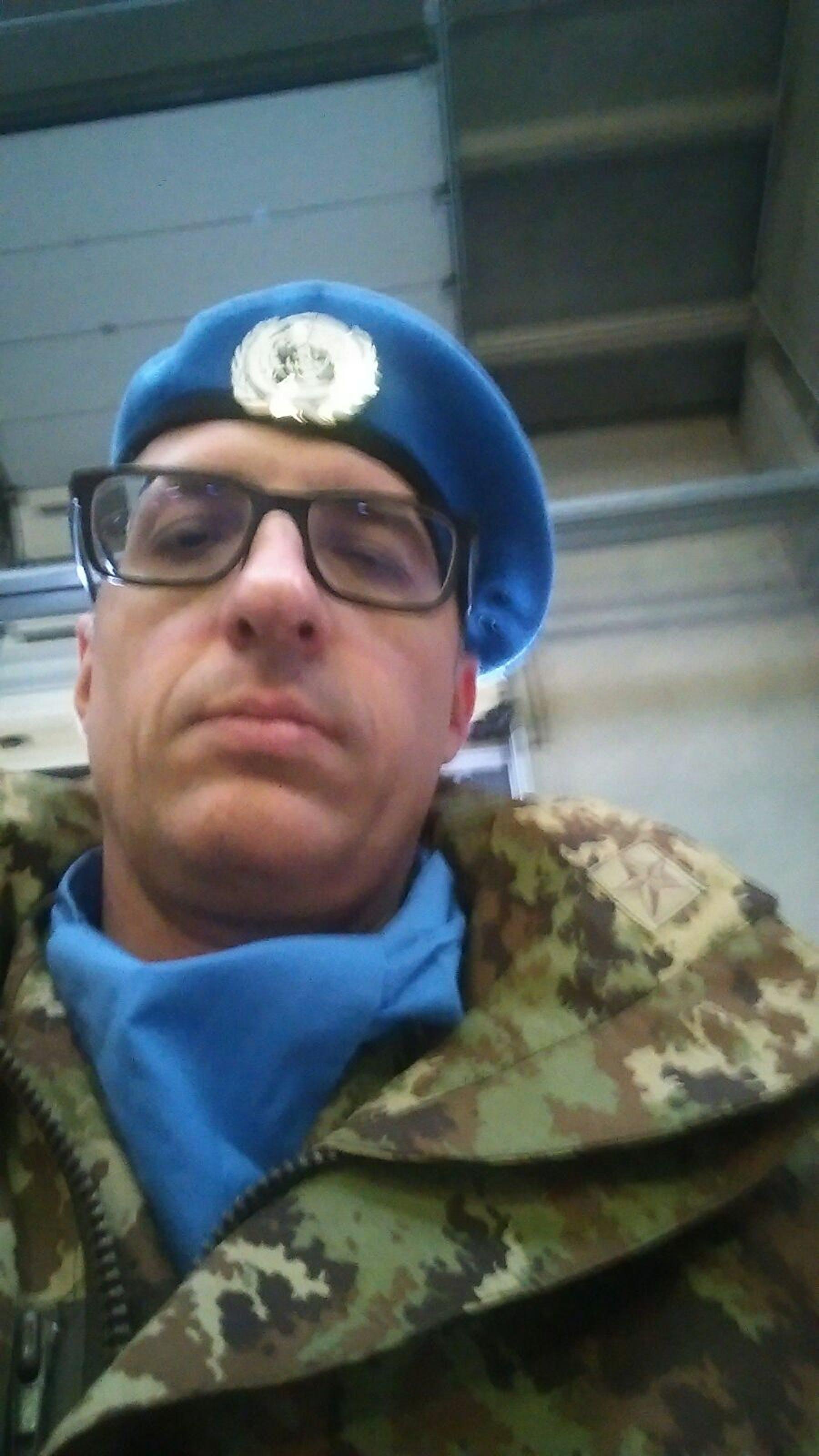 Il volontario Alessandro Tassi in missione in Libano