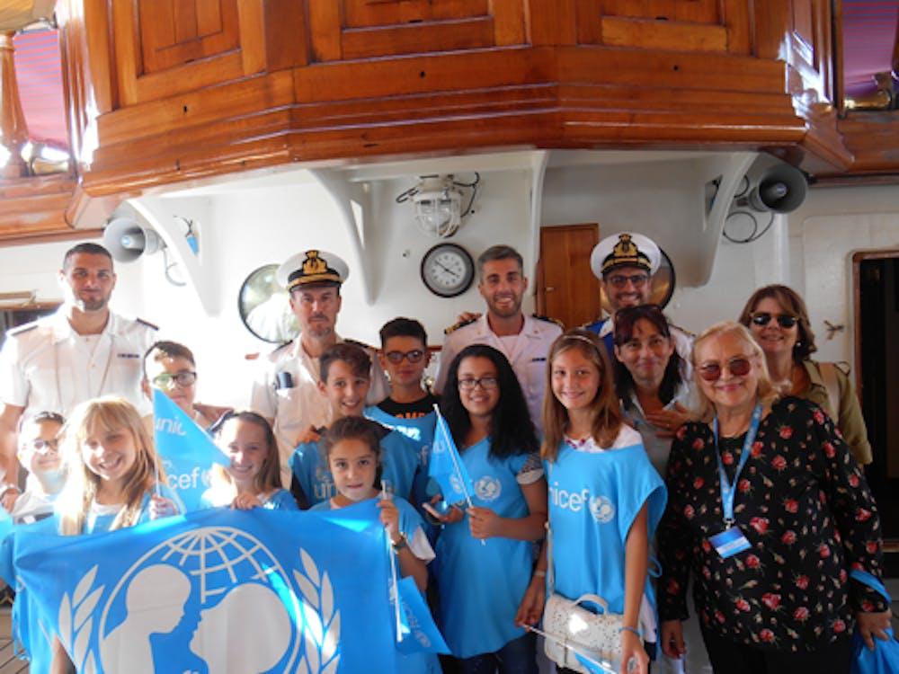 L'UNICEF e l'Amerigo Vespucci