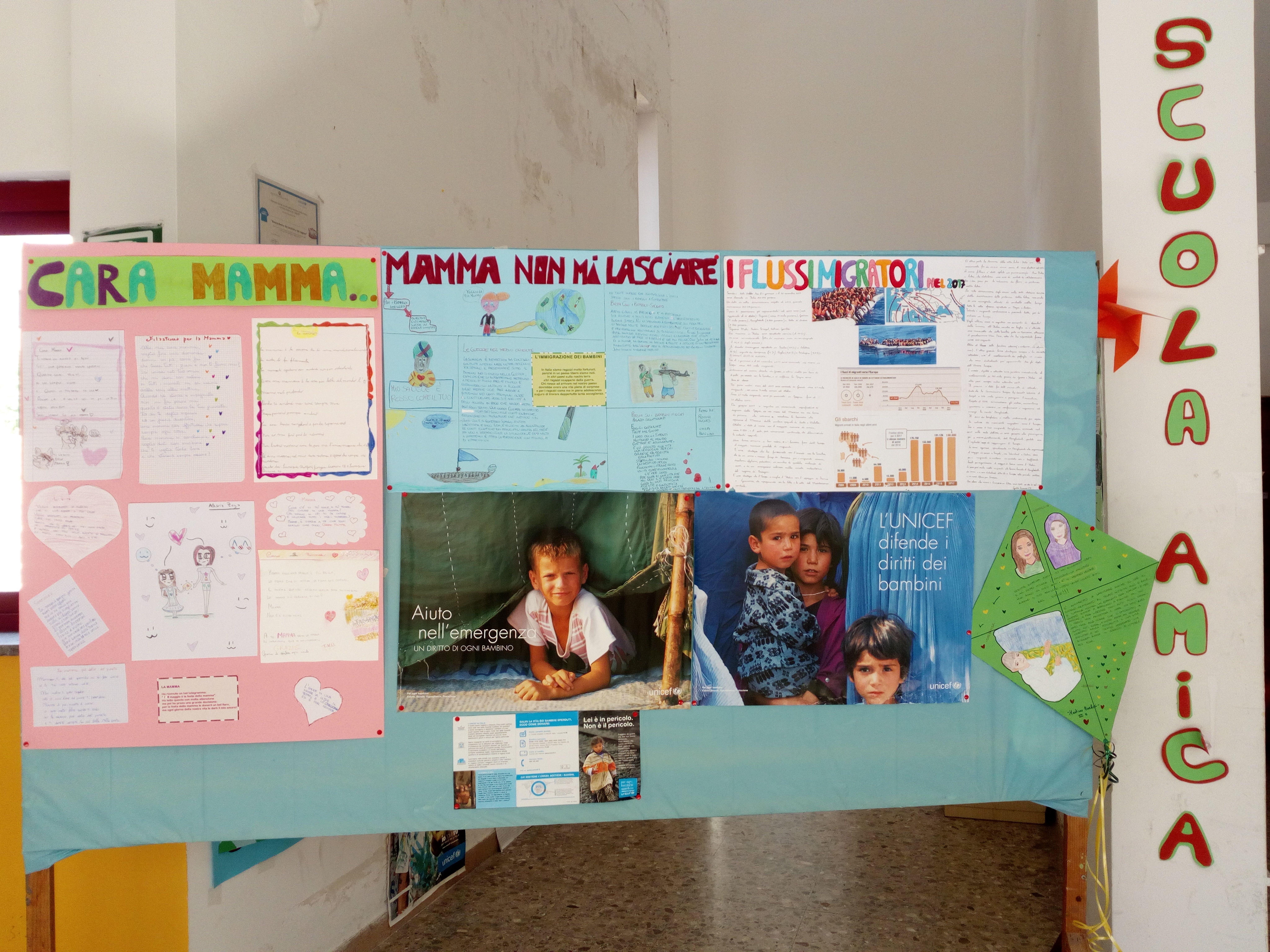 Lavori degli alunni per celebrare la Festa della mamma