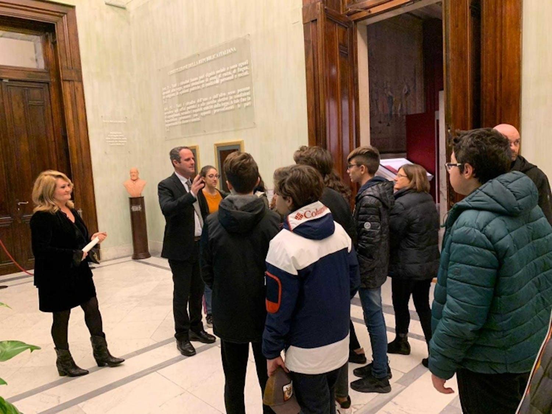 Battilocchio incontra gli alunni della Regina Elena di Civitavecchia