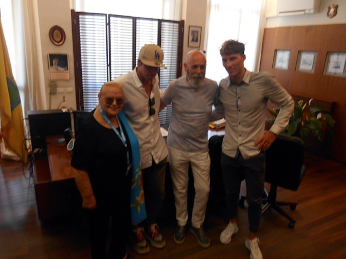 Pina Tarantino, Mattia Camboni, Ernesto Tedesco e Benedetti