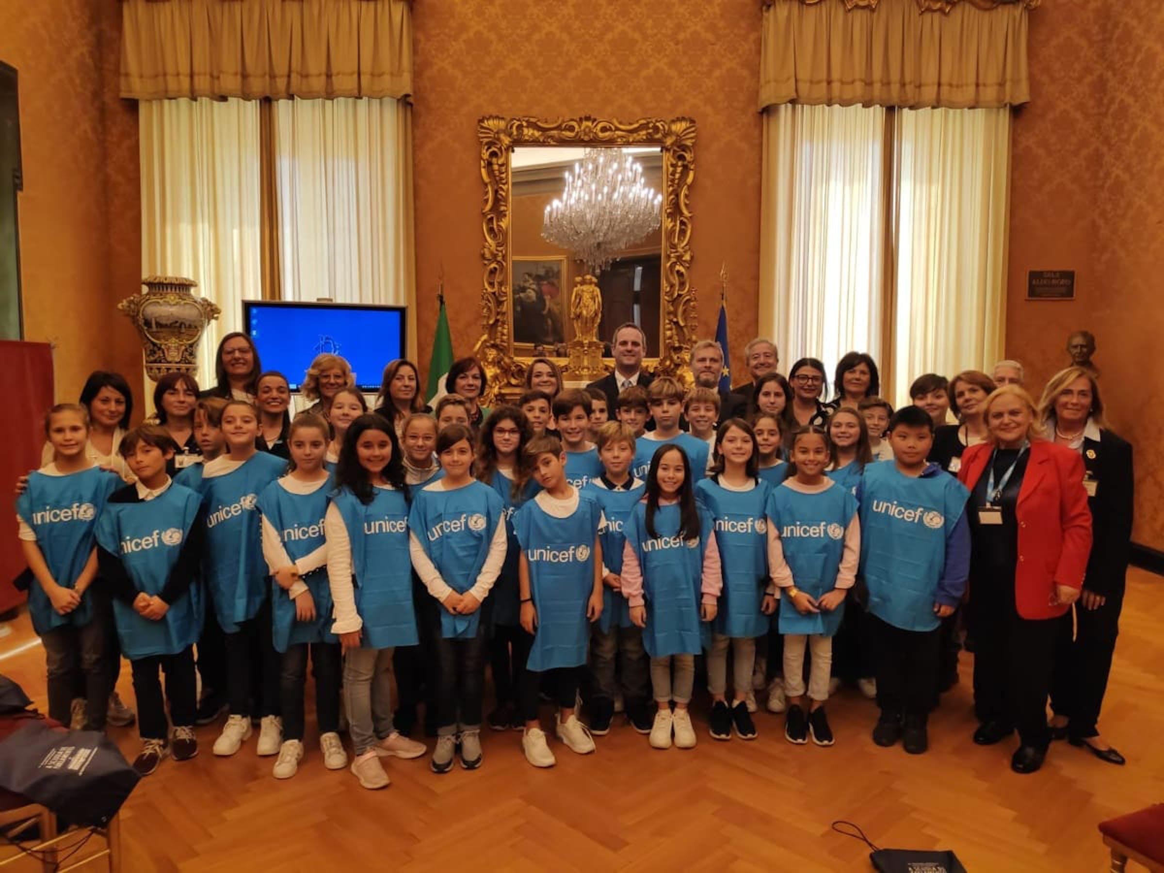 Gli alunni della scuola Cialdi alla Camera dei Deputati