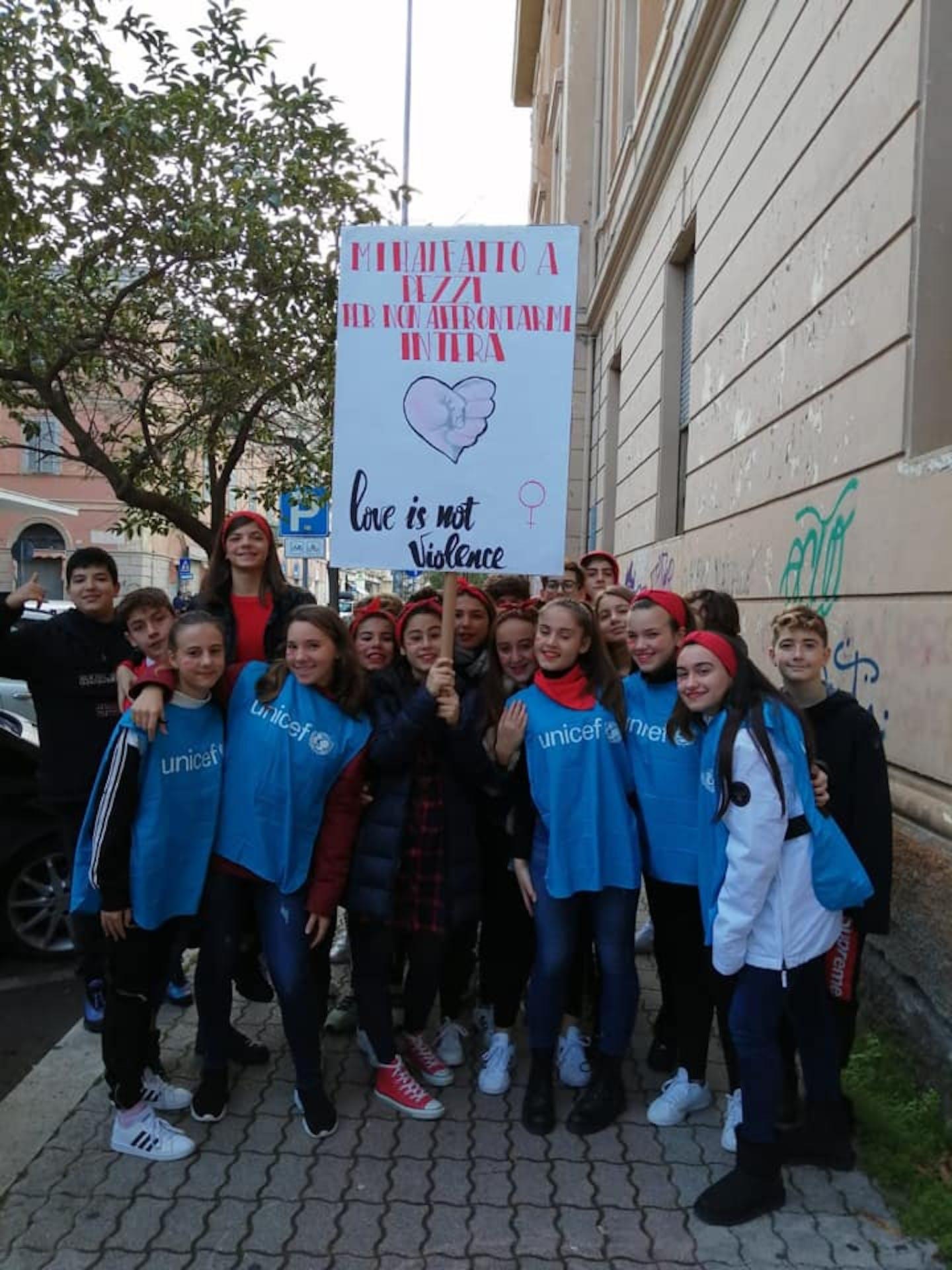 La Scuola Amica dell'UNICEF contro la violenza