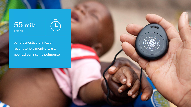 TImer per monitorare i neonati a rischio polmonite