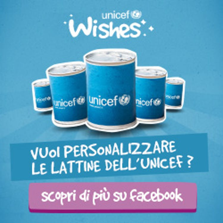 On line la campagna UNICEF Wishes