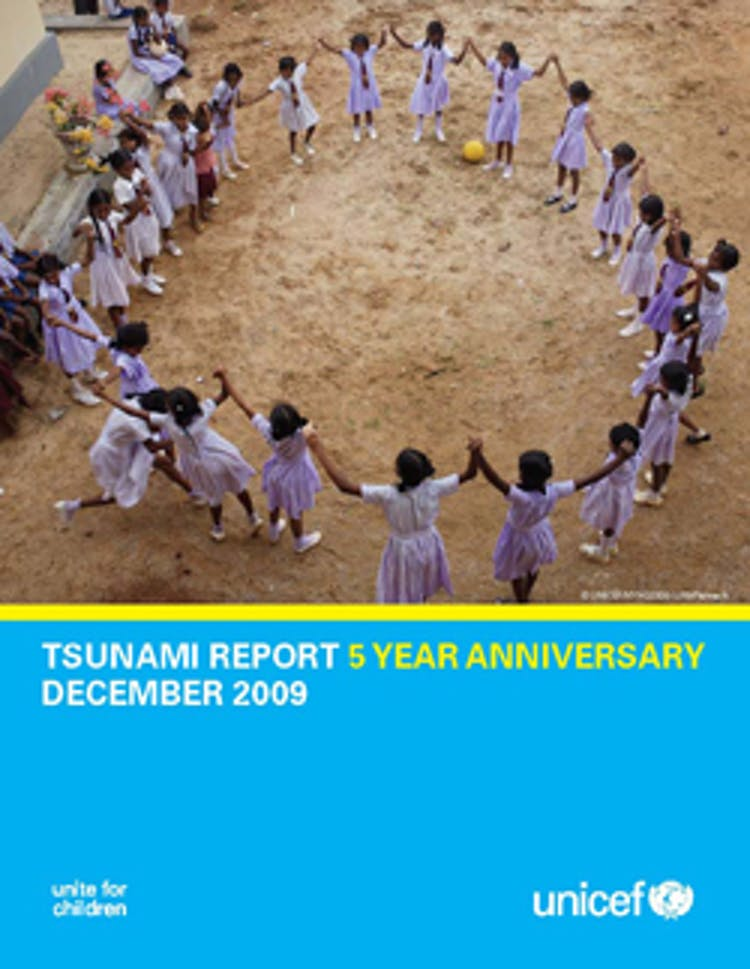 Copertina del rapporto a 5 anni dallo Tsunami