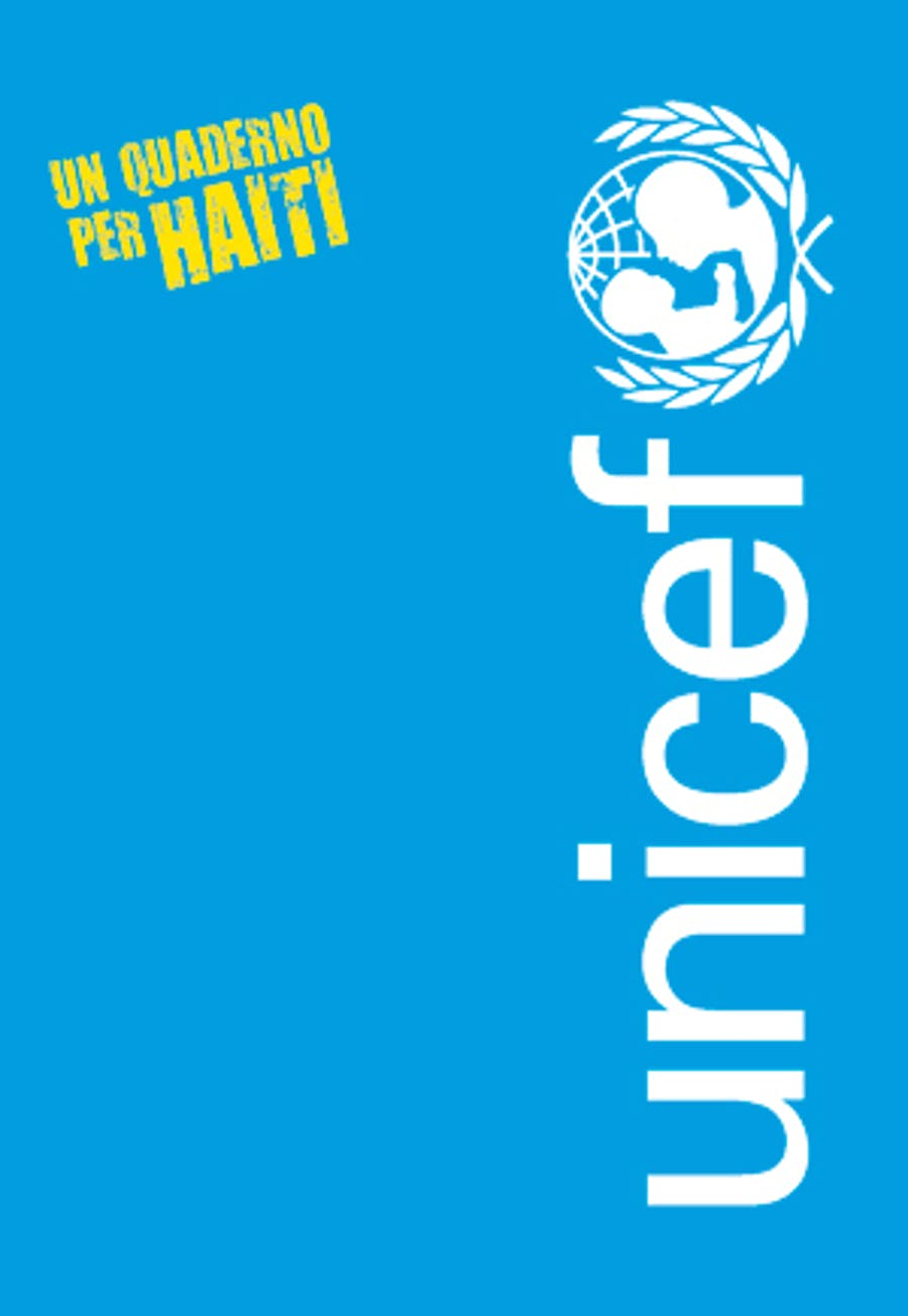 La copertina di uno dei Quaderni per Haiti messi in vendita da Poste Italiane per l'UNICEF