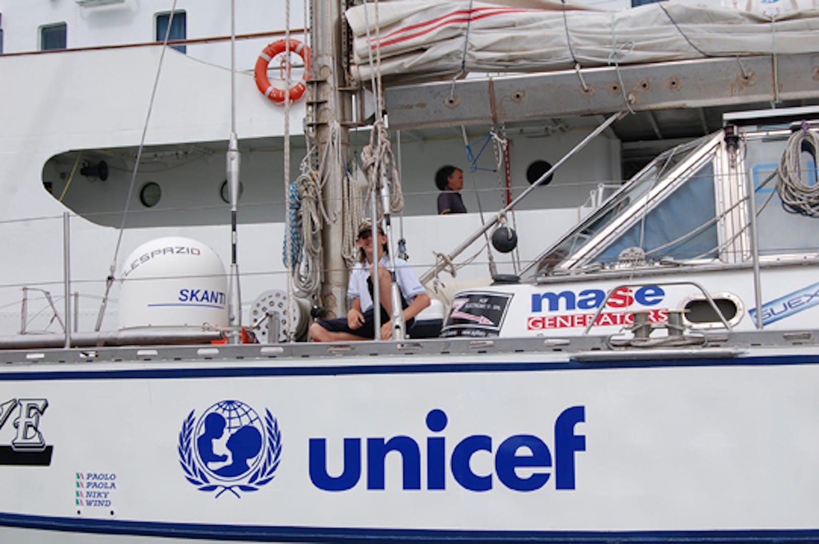 Niky Frascisco sulla sua barca