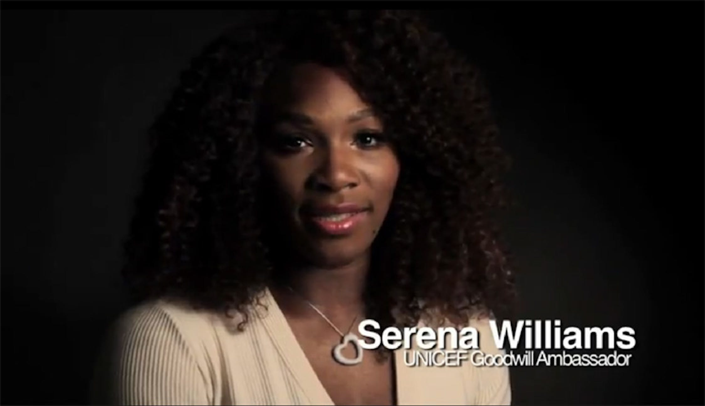 Serena Williams nel video-appello per il Corno d'Africa - ©UNICEF Video/2011