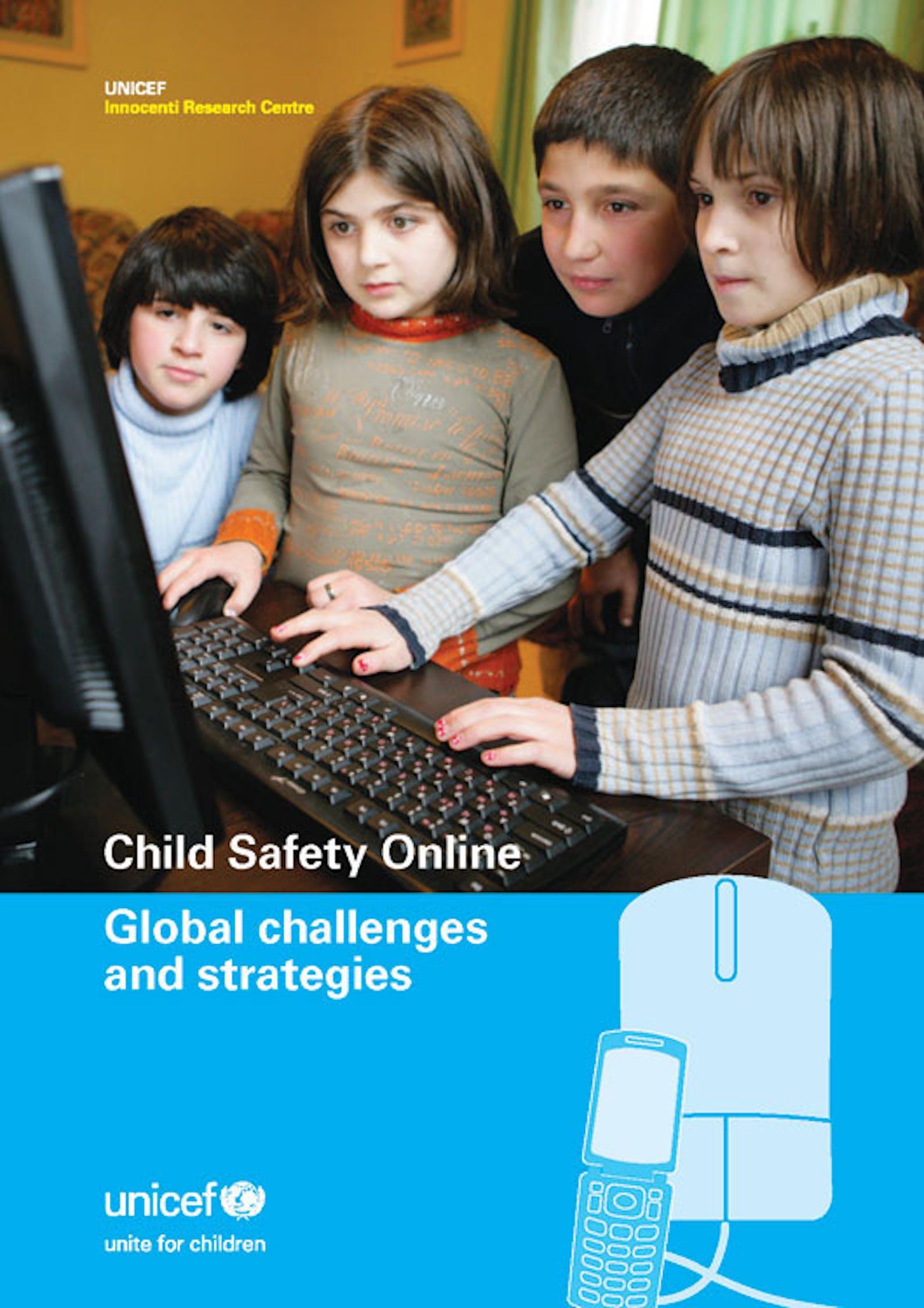 Copertina del rapporto UNICEF ''Child Safety Online''
