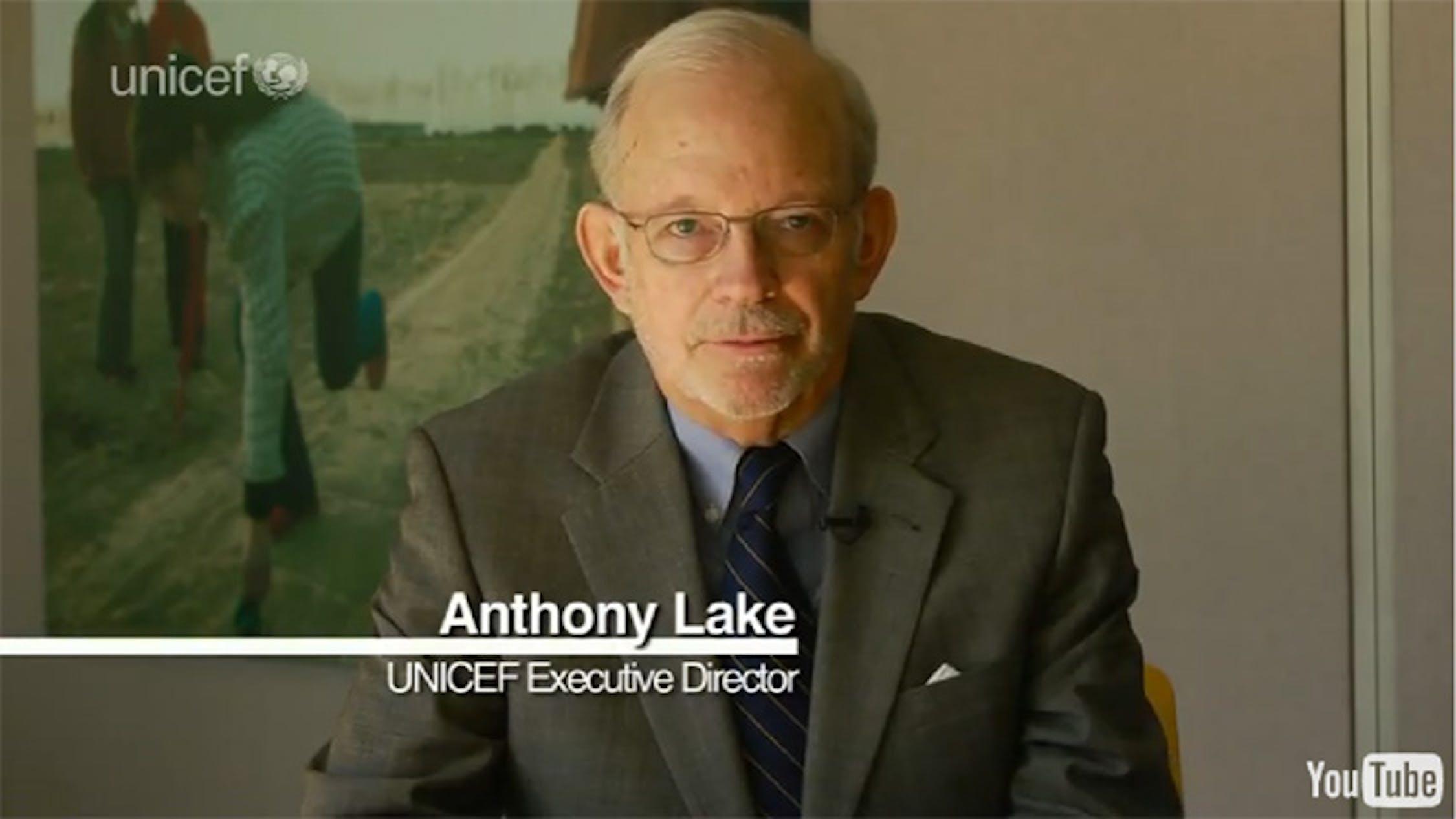 Anthony Lake, Direttore esecutivo dell'UNICEF - ©UNICEF/2012