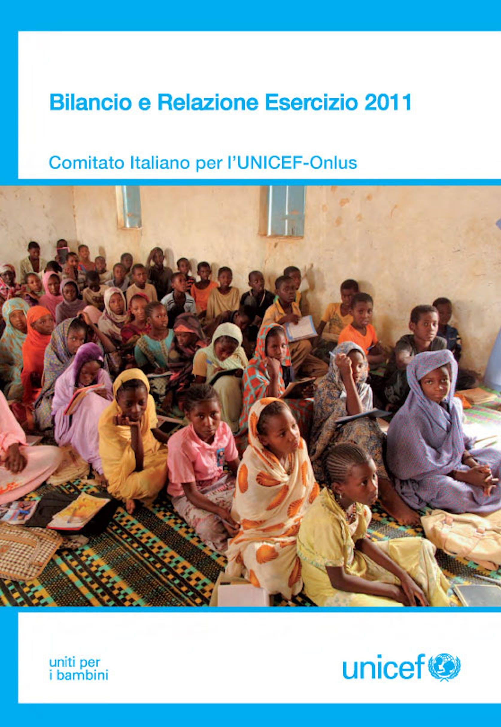 Bilancio Amministrativo  2012 dell'UNICEF Italia