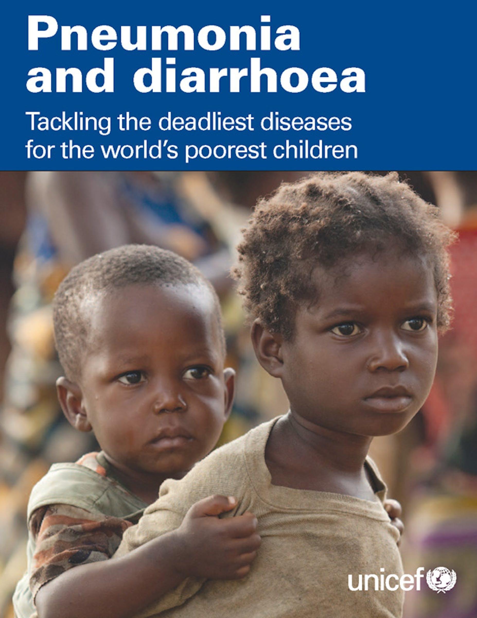 Copertina del Rapporto UNICEF 2012 su Polmonite e diarrea