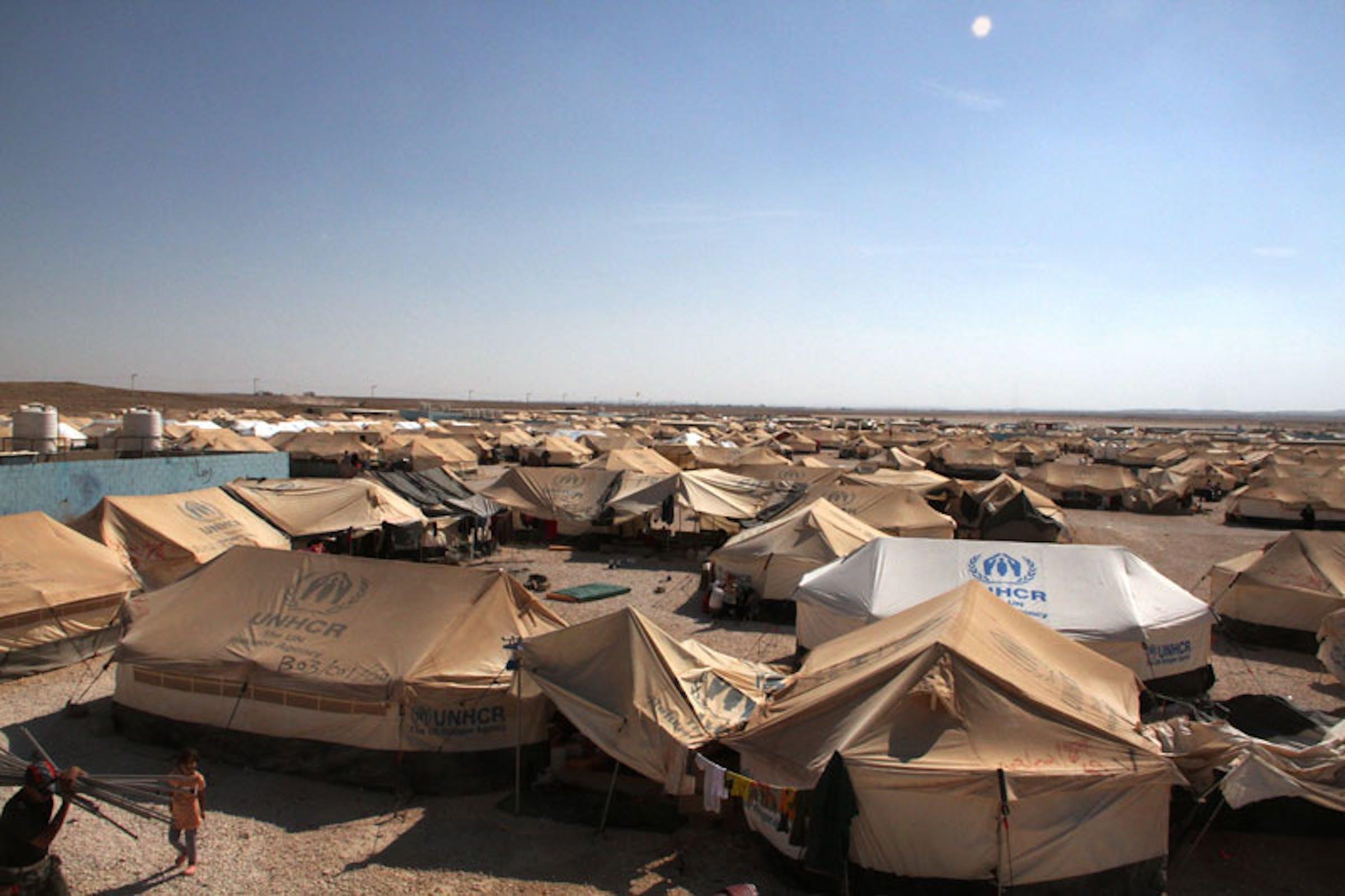 Le tende del campo profughi di Za'atari (Giordania) - ©UNICEF Giordania/2012/Al Masri