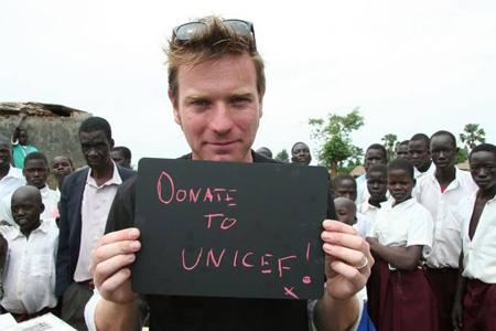 L'attore EwanMcGregor, ambasciatore UNICEF nel Regno Unito, è testimonial della campagna per la smobilitazione dei bambini soldato nella Repubblica Centrafricana, promossa dal Comitato inglese per l'UNICEF e dal quotidiano The Independent - ©UNICEF UK/2013