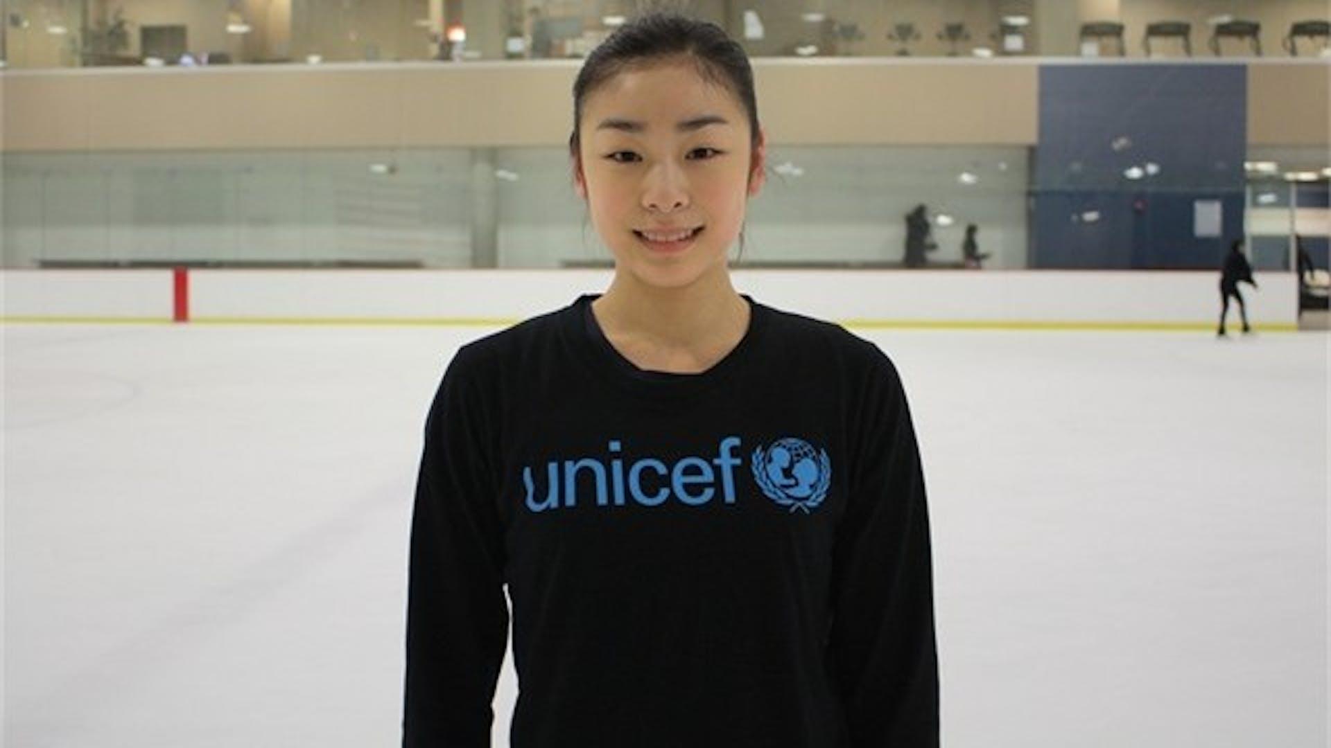 La campionessa mondiale di pattinaggio di figura Yuna Kim