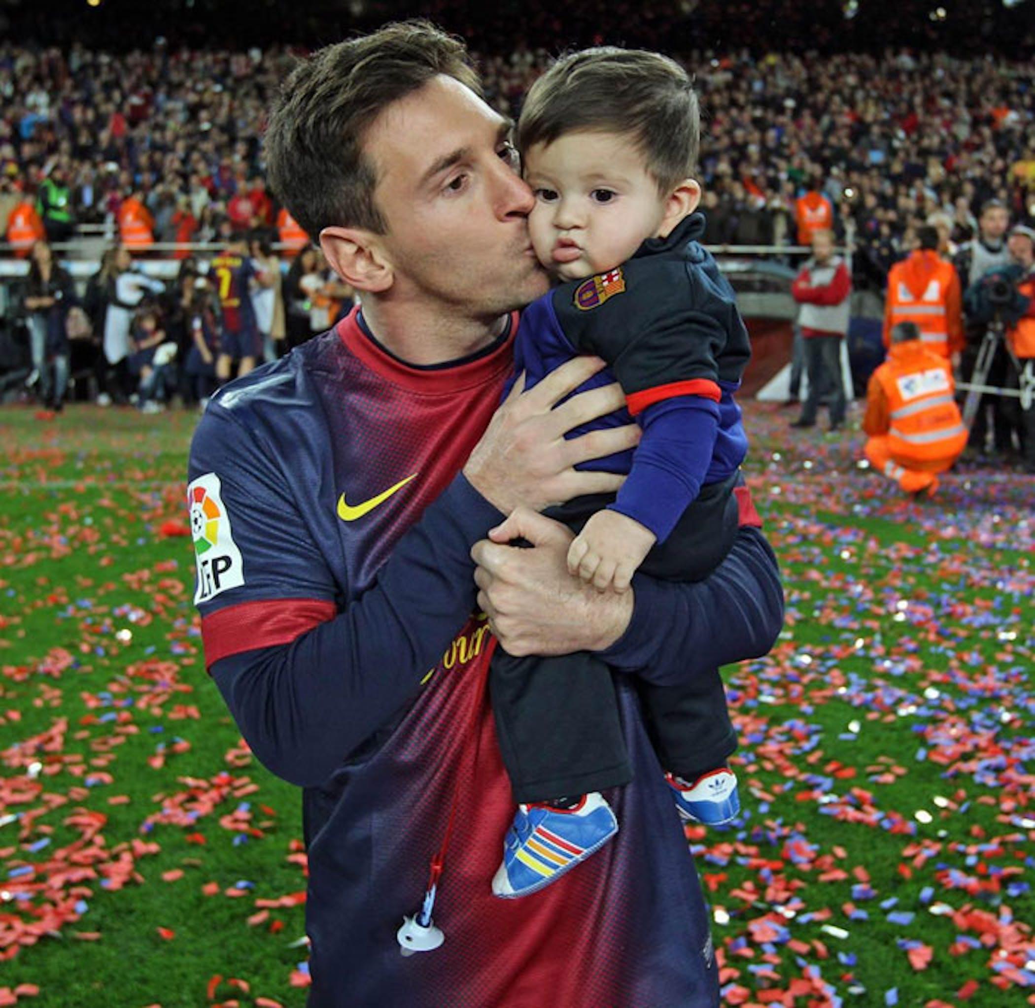Leo e Thiago Messi